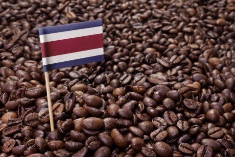 Flag of Costa Rica coffee