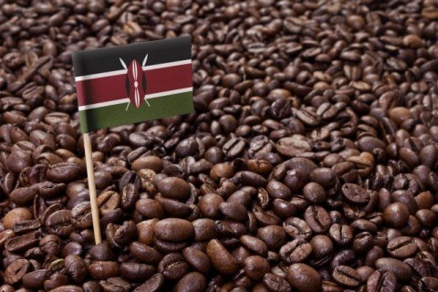 Flag of Kenya coffee