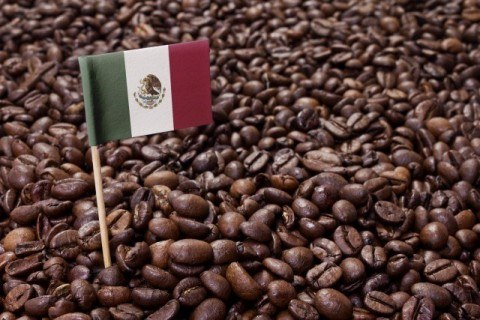 Flag of Mexico coffee