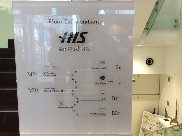 H.I.S.旅と本と珈琲と_floorguide
