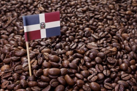 Flag of Dominican Republic coffee