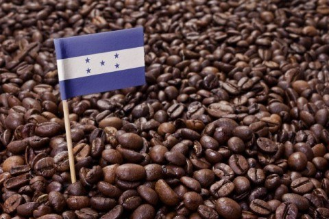 Flag of Honduras coffee