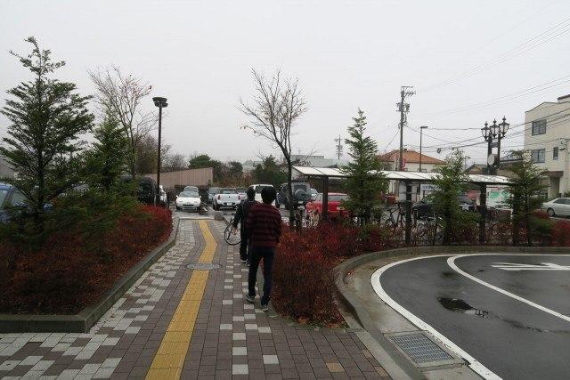 中軽井沢駅 通路
