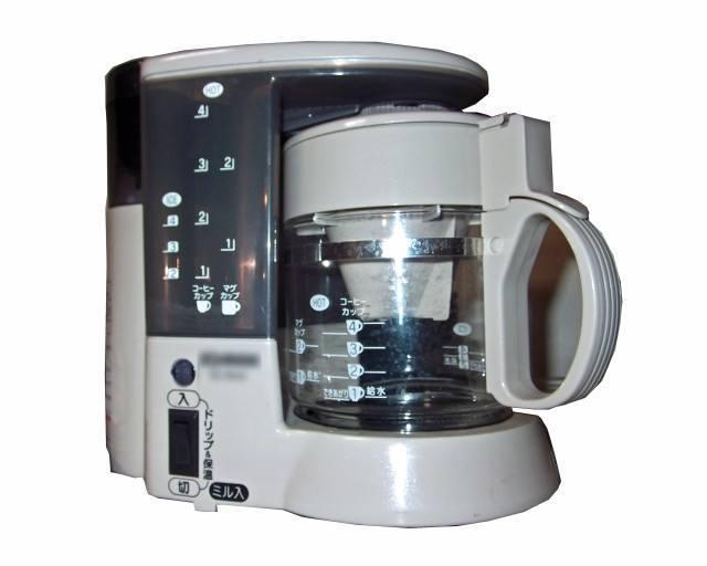 コーヒー豆の挽き方「コーヒーメーカー」の特徴
