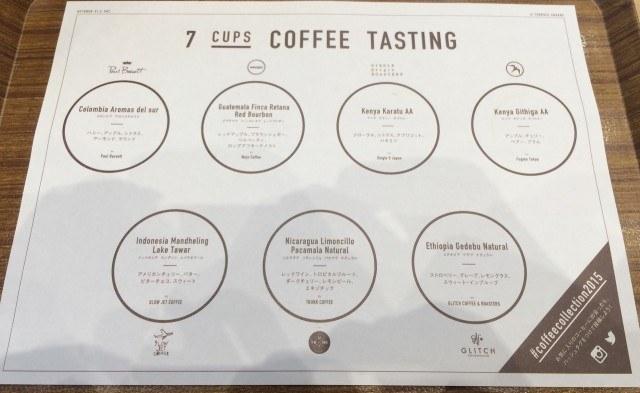 COFFEE COLLECTION around 神田錦町2015_tasting2
