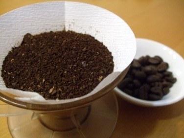 ペーパードリップの豆量と抽出量