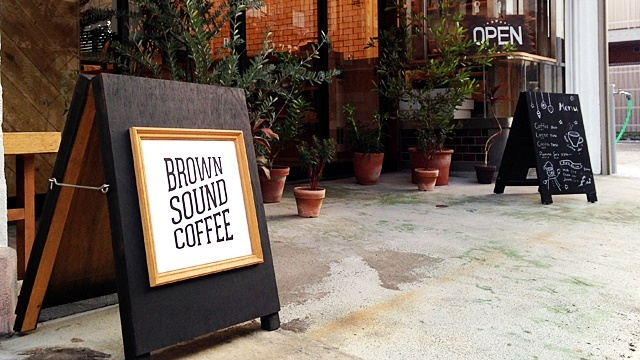 BROWNSOUNDCOFFEE_看板
