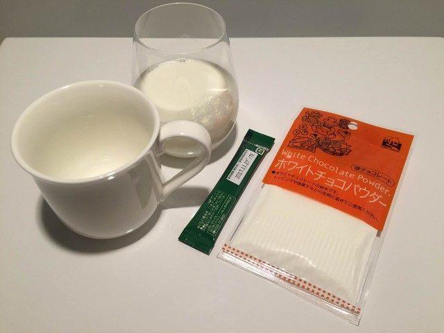 ホワイトチョコレートコーヒー_材料