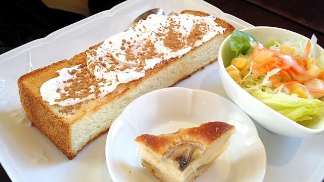 cafe柚_モーニングシナモントースト