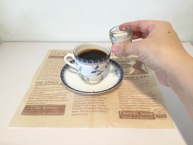 ココナッツミルクコーヒーコーヒーにココナッツミルクを加える