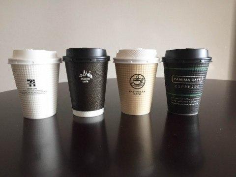 コンビニコーヒー大手4社カップ