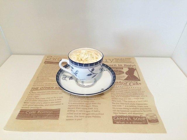 ウィンナーコーヒーできあがり