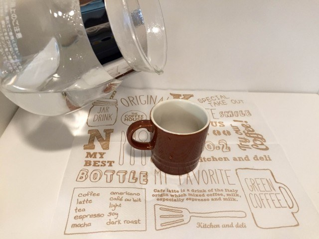 黒ごまコーヒー注湯