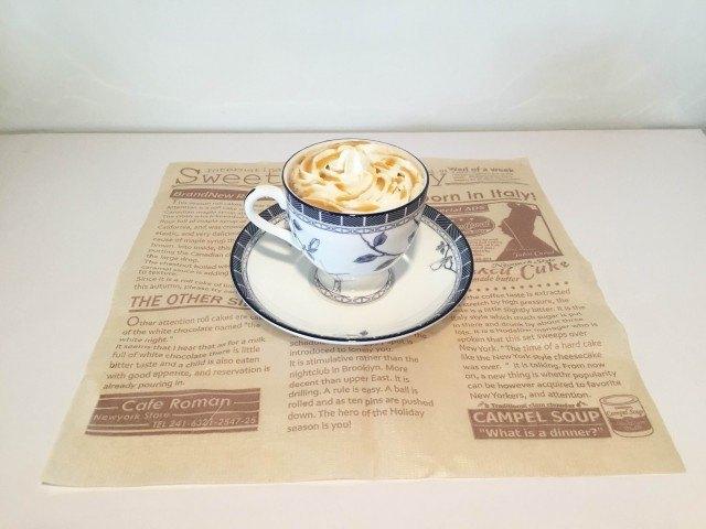 ココナッツミルクコーヒーできあがり