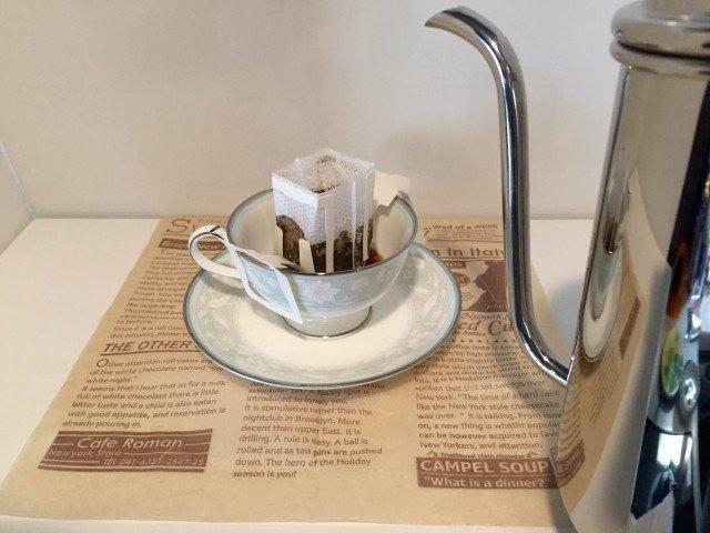 アセロラコーヒードリップコーヒーを作る