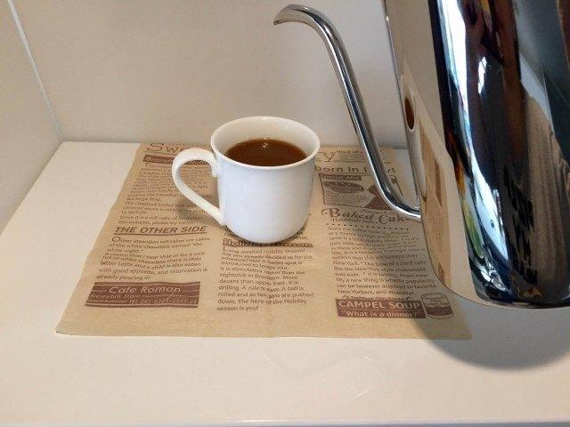 ピーナッツコーヒー湯を注ぎできあがり