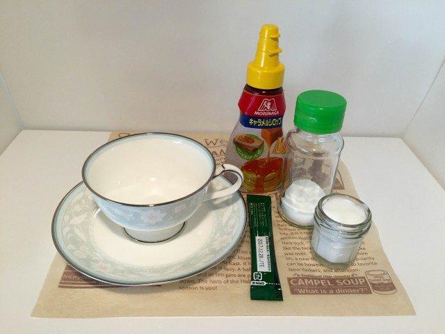 塩キャラメルラテ材料