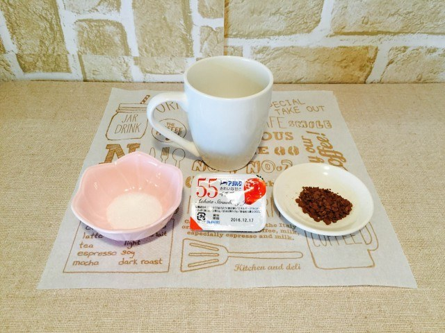 イチゴジャムコーヒー材料