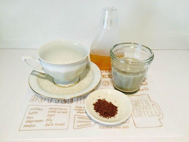 黒豆豆乳コーヒー材料