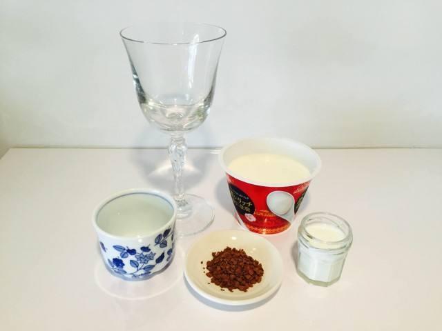 杏仁ミルクコーヒー材料