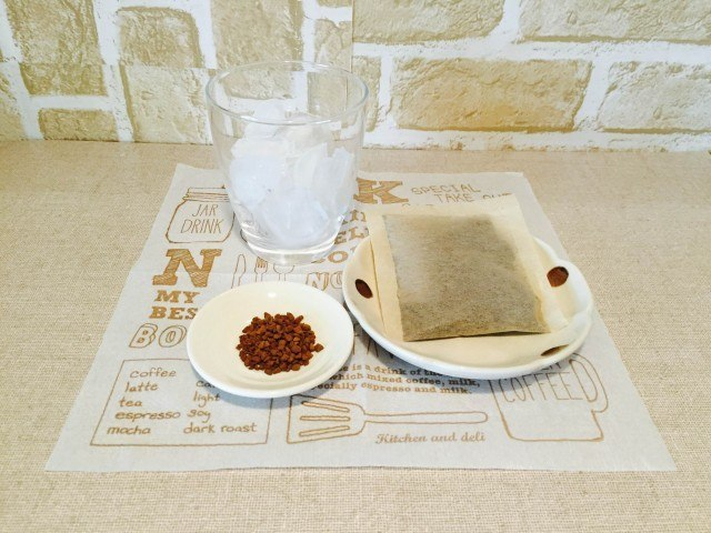黒豆麦茶アイスコーヒー材料