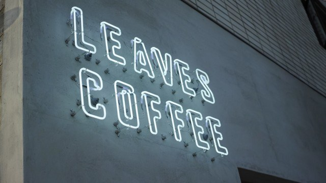 Leaves Coffee Apartment_sign