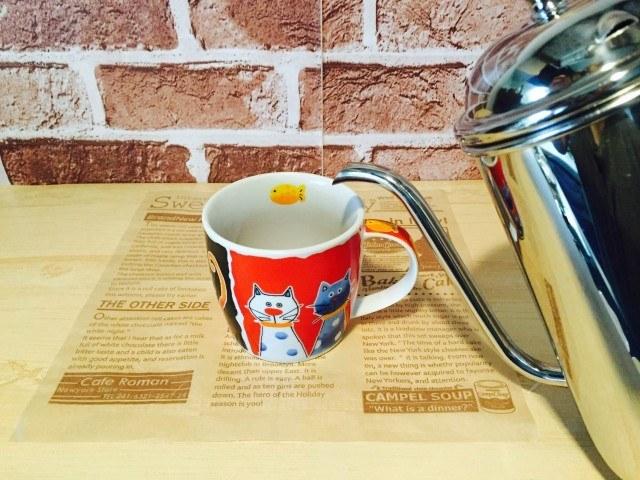 トマトコーヒー_湯を注ぐ