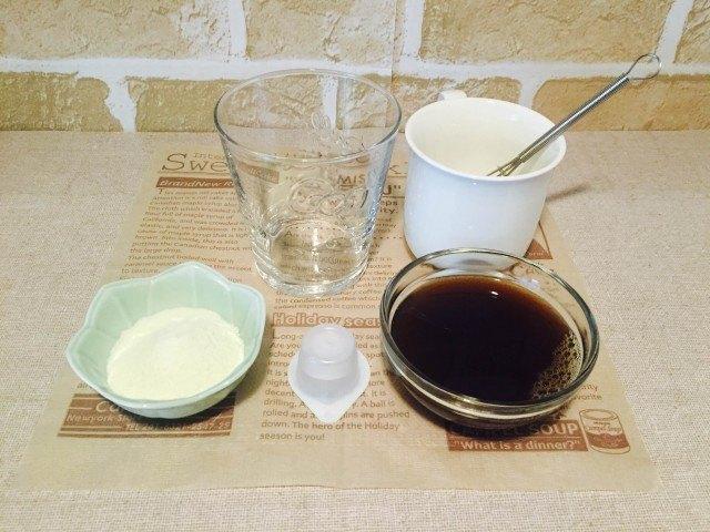 スキムミルクコーヒー_材料