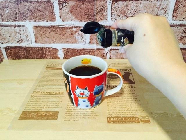 トマトコーヒー_ブラックペッパーを入れる