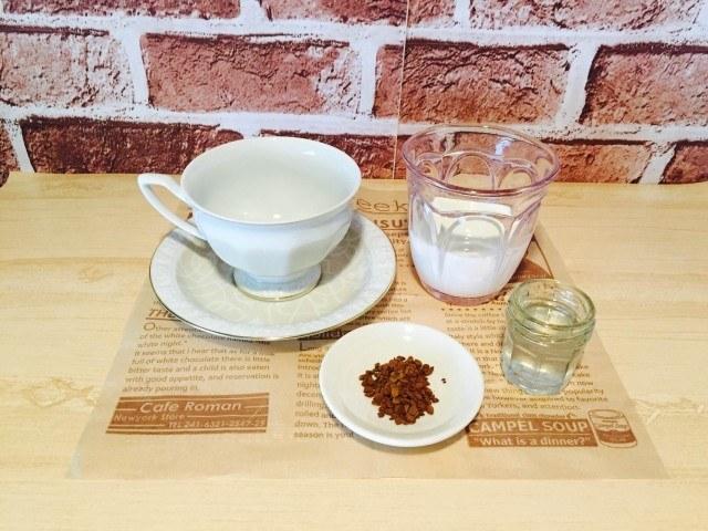 梨シロップコーヒー_材料