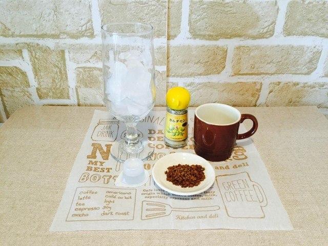 カルダモンアイスコーヒー材料