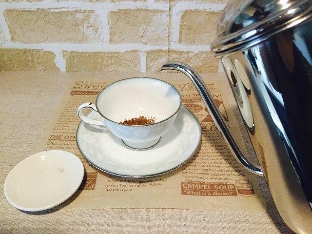 ピーチコーヒー_インスタントコーヒーを淹れる