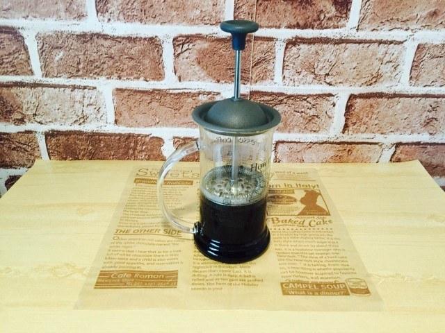 練乳コーヒー_コーヒープレスでコーヒーを抽出