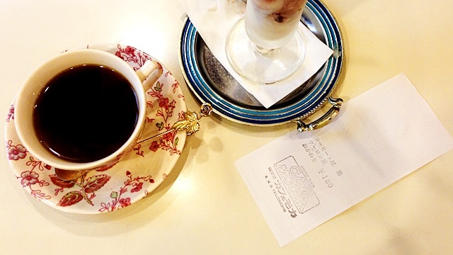 珈琲屋カフェモカ_コーヒーとパフェ