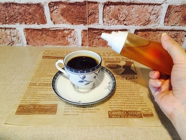 梅酢コーヒー_好みではちみつを入れる