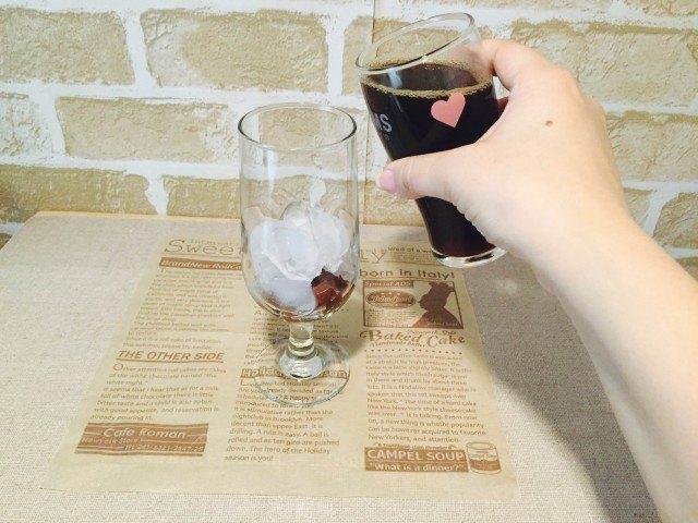 水ようかんコーヒー_アイスコーヒーを入れる