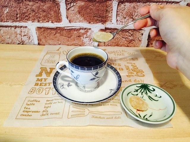 甘納豆コーヒー_甘納豆を入れる