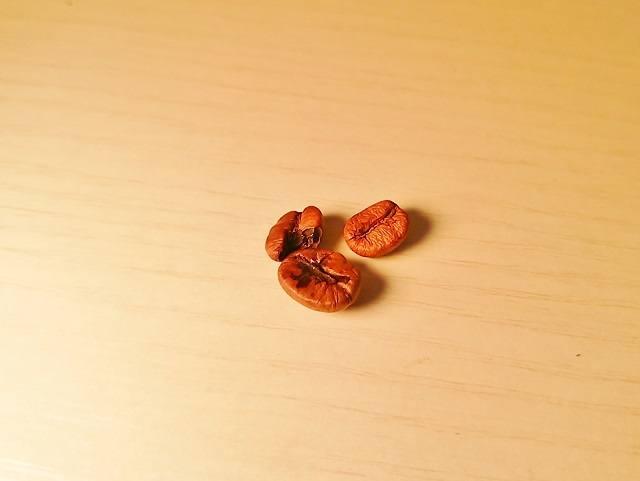 新鮮・高品質なコーヒー豆の探し方_変色豆