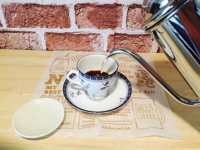 甘納豆コーヒー_インスタントコーヒーを淹れる
