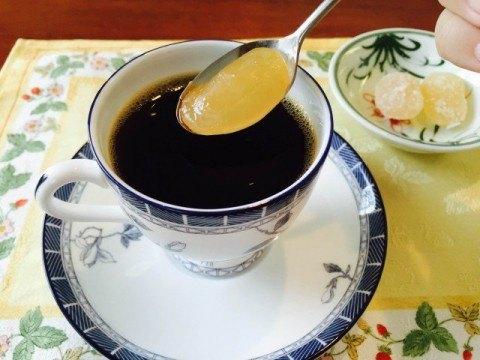 甘納豆コーヒー_甘納豆が美味しそう