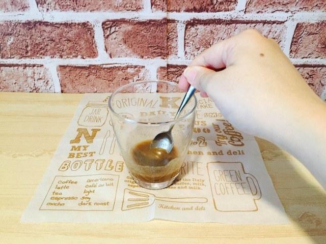 はったい粉コーヒー_材料をよくかき混ぜる