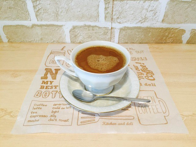 アーモンドミルクコーヒー_アーモンドミルクコーヒーのできあがり1
