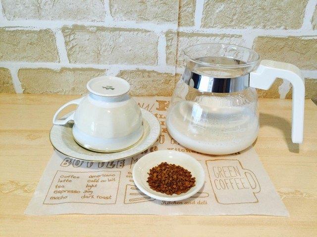 アーモンドミルクコーヒー材料