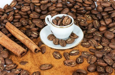 コーヒー豆 カップ 480x312