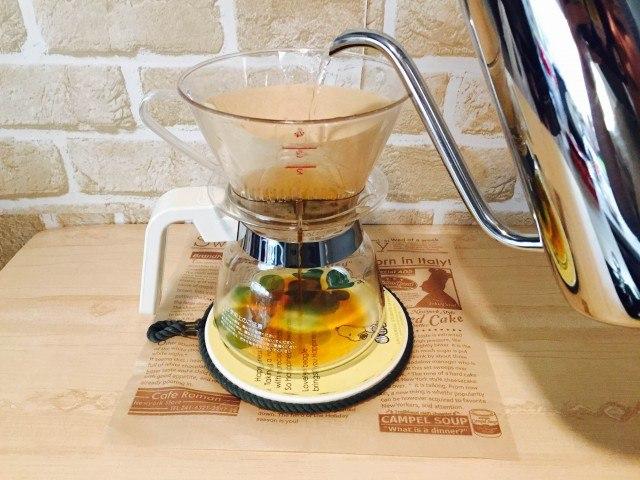 ヘーゼルナッツオレ_コーヒーを淹れる