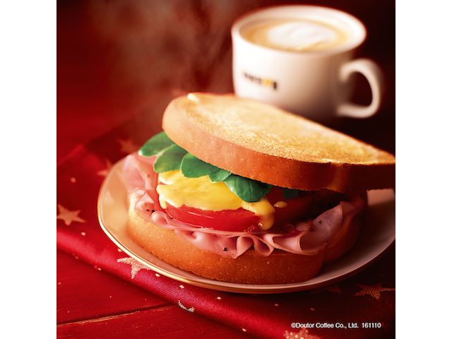 【ドトール】朝の新定番「朝カフェ・セットB あつあつハムチーズ ~2種のとろけるナチュラルチーズ~」を発売