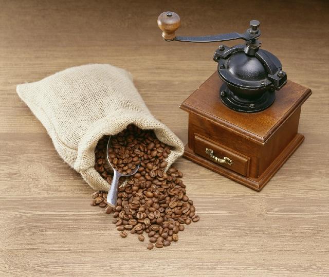 コーヒー豆_麻袋_コーヒーミル
