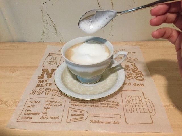 ノンカフェイン_麦コーヒー_フォームミルク
