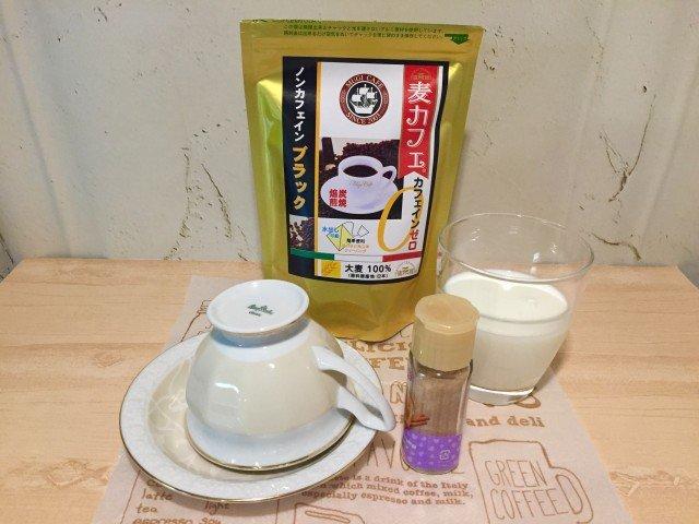ノンカフェイン_麦コーヒー_材料