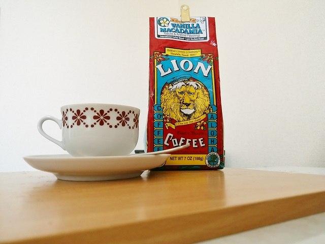 フレーバーコーヒー「LION COFFEE バニラマカダミア」